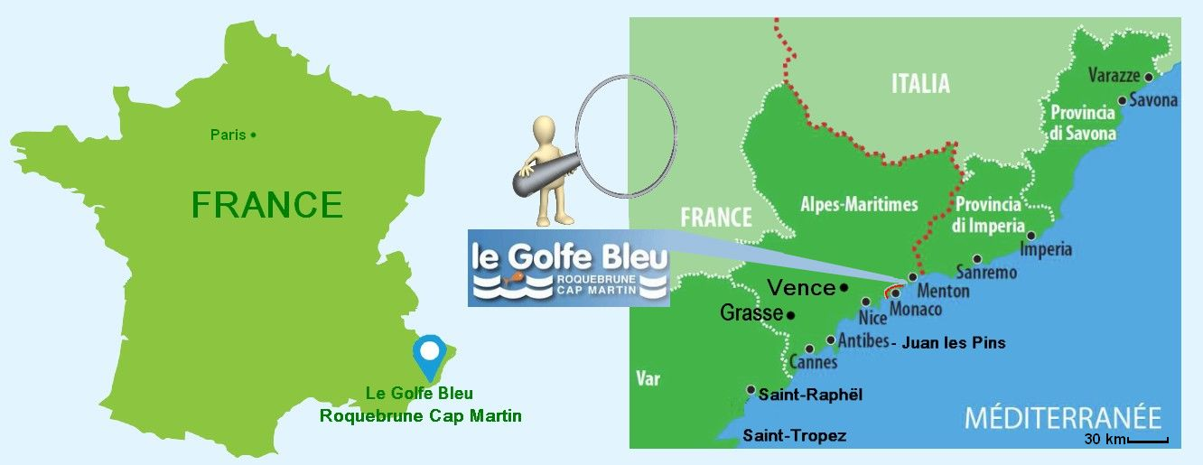 Map Of France French Riviera.Useful Infos Around Golfe Bleu Resort Legolfebleu Com